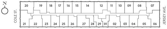 View the Floorplan Plate for Our Downtown Jersey City Luxury Apartments For Rent